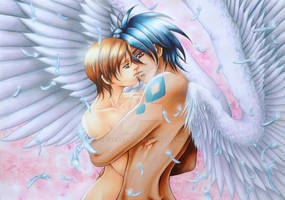 Van and Hitomi from Escaflowne movie