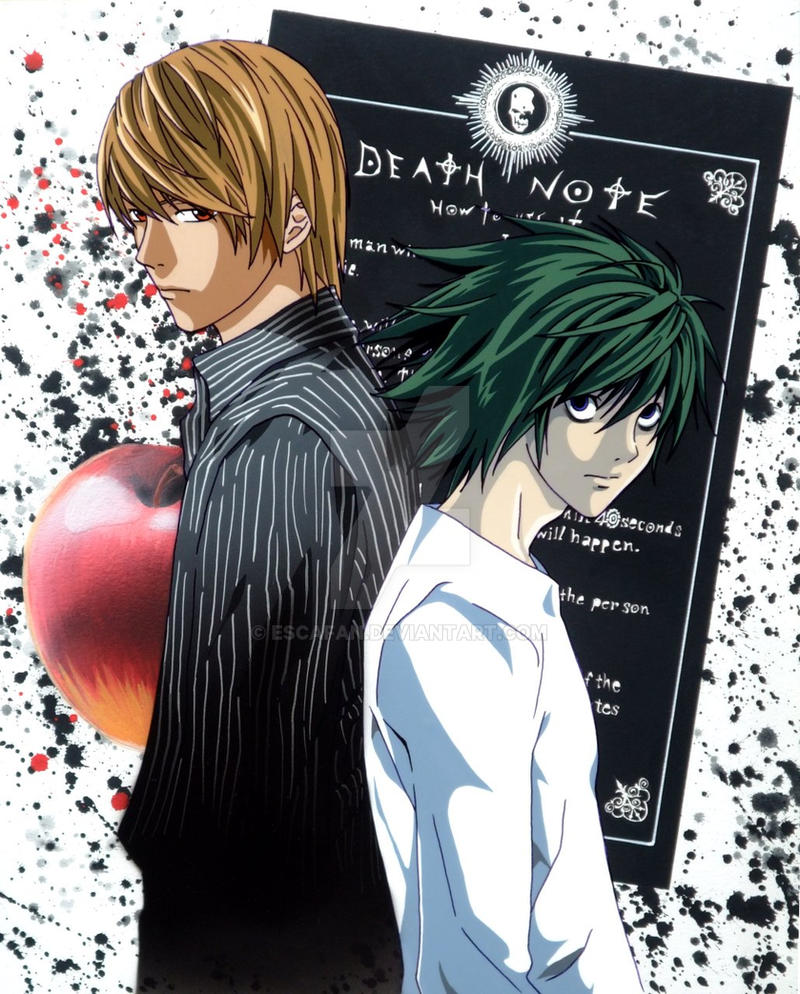 Death Note Light and L .fancel. by escafan on DeviantArt