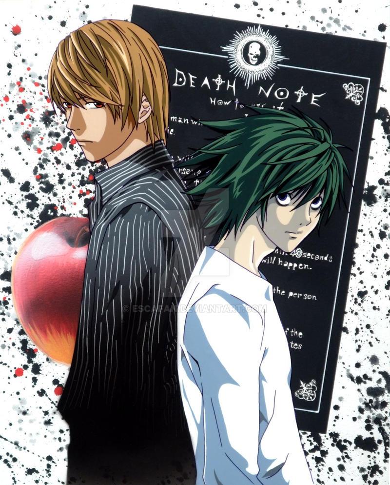 Death Note Light and L .fancel. by escafan on DeviantArt