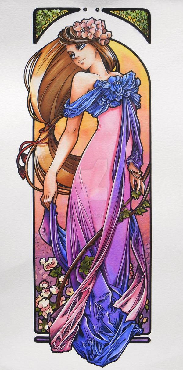 Spring Sunset Art Nouveau by escafan