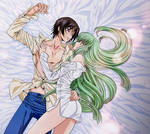 Eternal Lovers. Lelouch and C.C from Code Geass by escafan