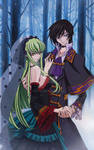L.L and C.C ( Lelouch and C.C from Code Geass )