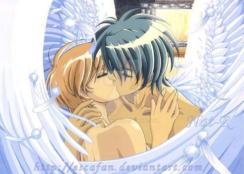 Van kissing Hitomi