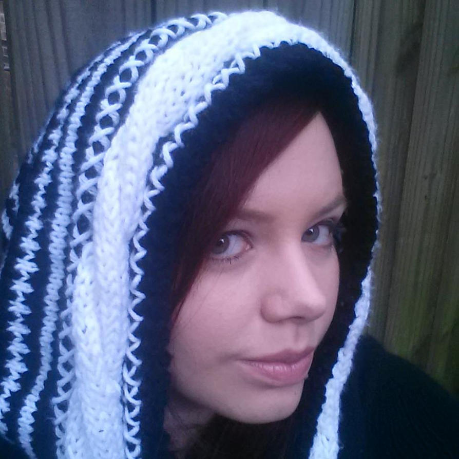 Black and White Skull Scoodie by Branxnia