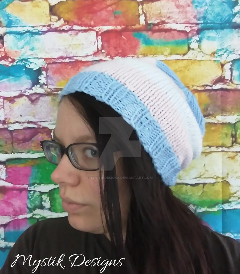 Trans Pride Flag Slouchy Hat by Branxnia
