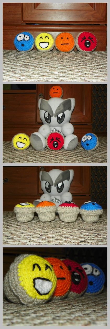 StressBalls Series 1 Cupcakes by SparklyDest
