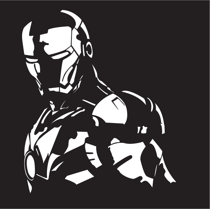 Iron Man Stencil Ironman Vector Drawing By