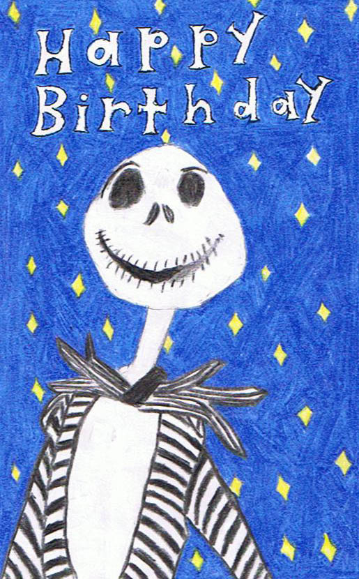 Jack Skellington birthday card by eileenmeierrocks