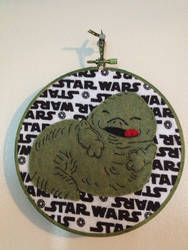 Cute Jabba the Hut - Star Wars Embroidery Hoop by CutieCornerCrafts