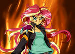 CLAMP-Style Sunset Shimmer