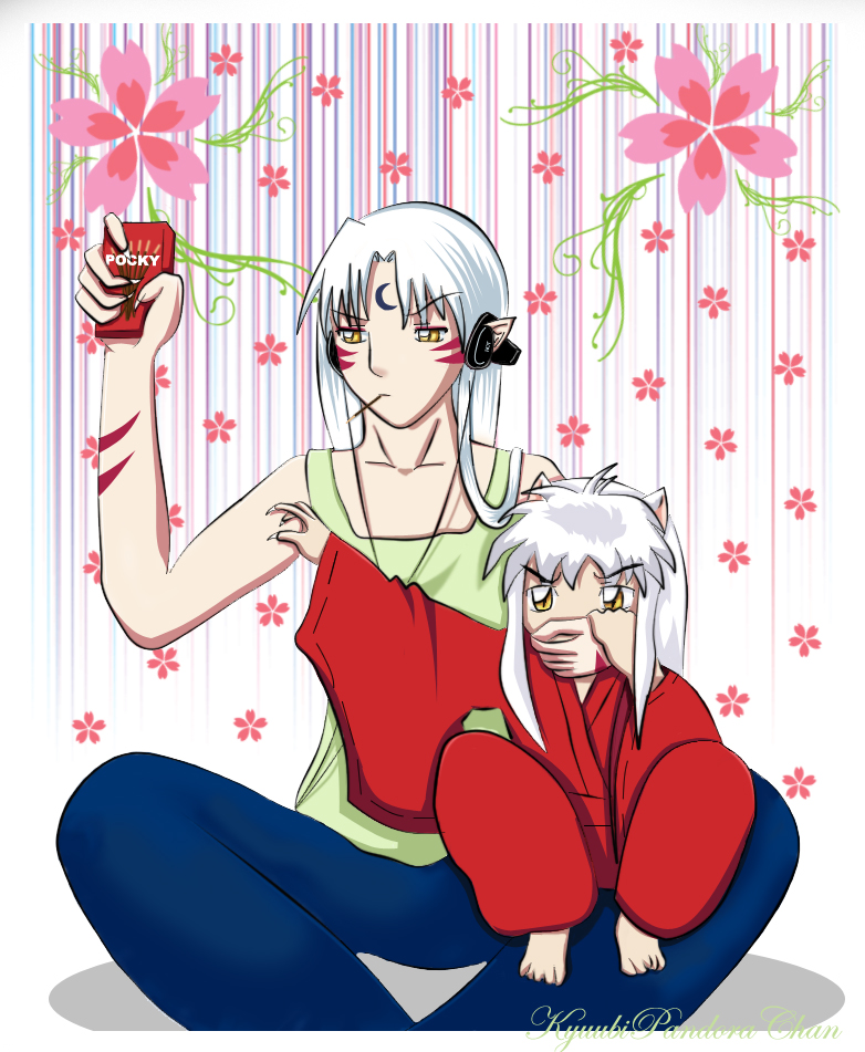 Sesshoumaru and Inuyasha by KyuubiPandoraChan