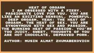 Sex Heat of orgazm Musin Almat Zhumabekovich by Almat111