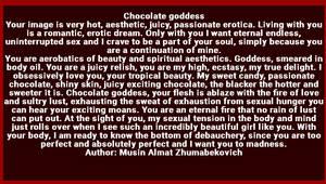 Chocolate goddess by Almat111