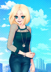 C and Sky by Fiona-Maria