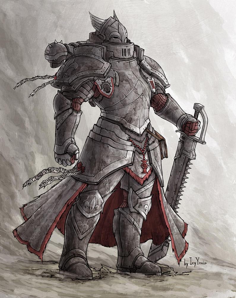 Sororitas Power Armor concept V2.0 by IcyYmir