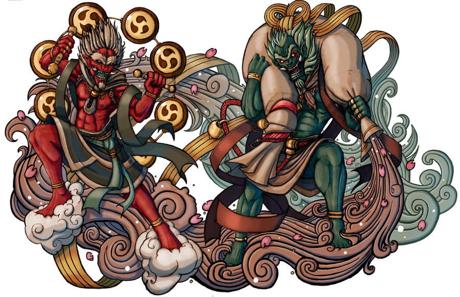 Demon Gods Fujin and Raijin by ElBrazo