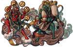 Demon Gods Fujin and Raijin