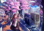 Sakura in shibuya  COM : by Innervalue