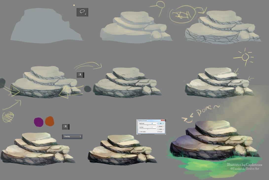 Tutorial How I make the stone by Caphricorn