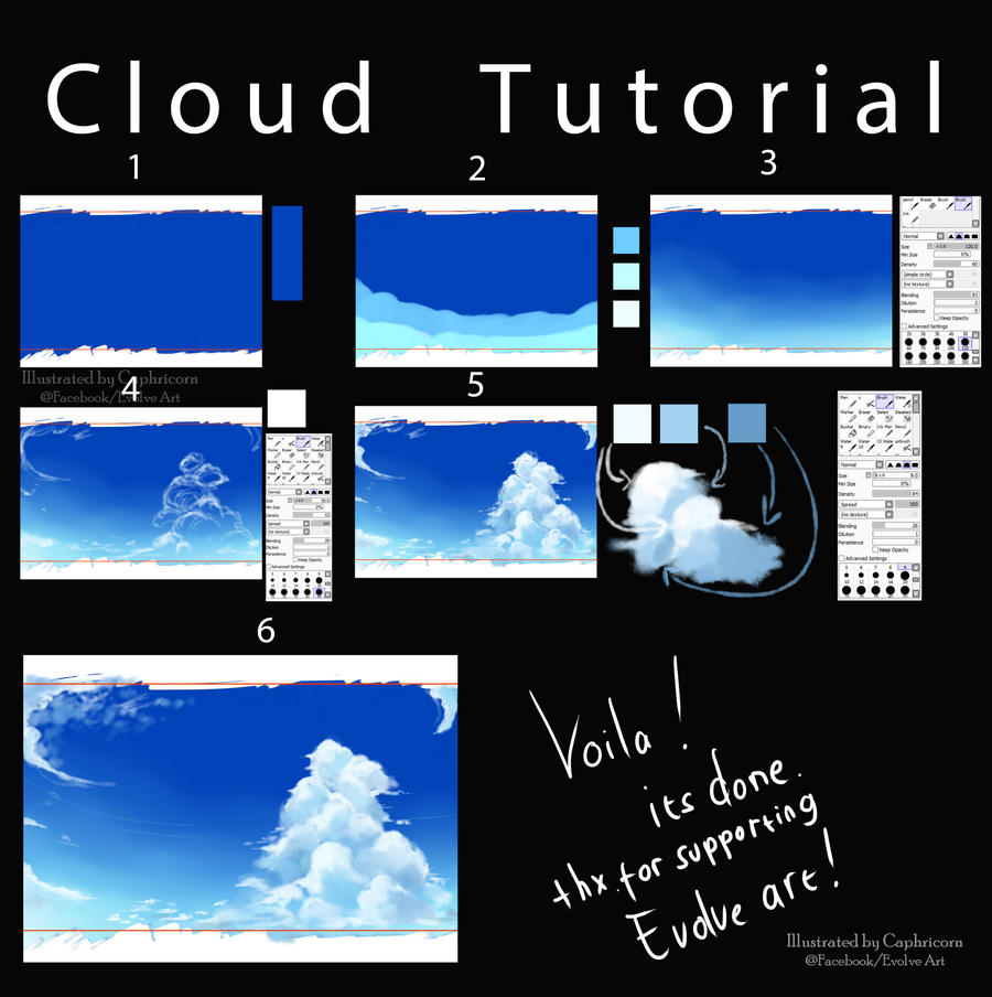 How to I make A Cloud ^^ by Caphricorn