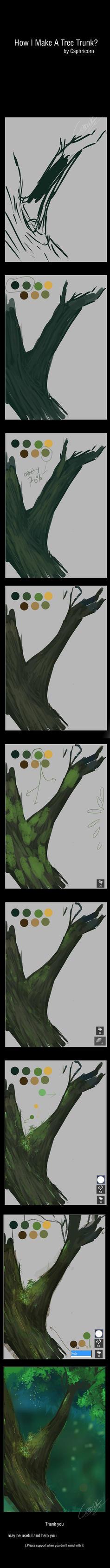 How i Make a Tree Trunks by Closz