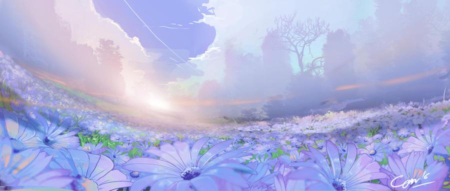 flower garden by Closz