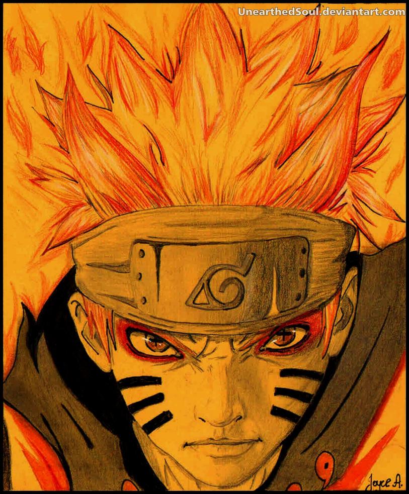Naruto Bijuu mode by UnearthedSoul