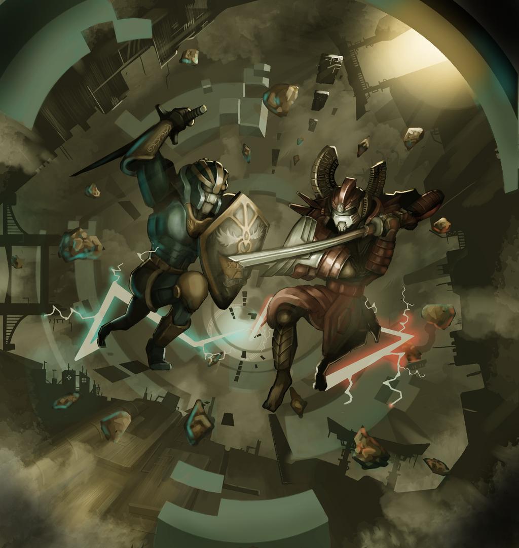 Cyber duel by wuhuli