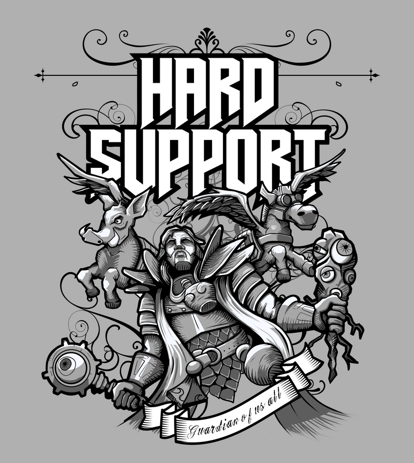 Hard Support Omniknight by wuhuli