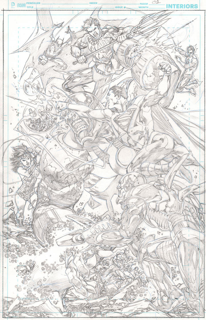 Justice League #23 pg 01 by IvanReisDC