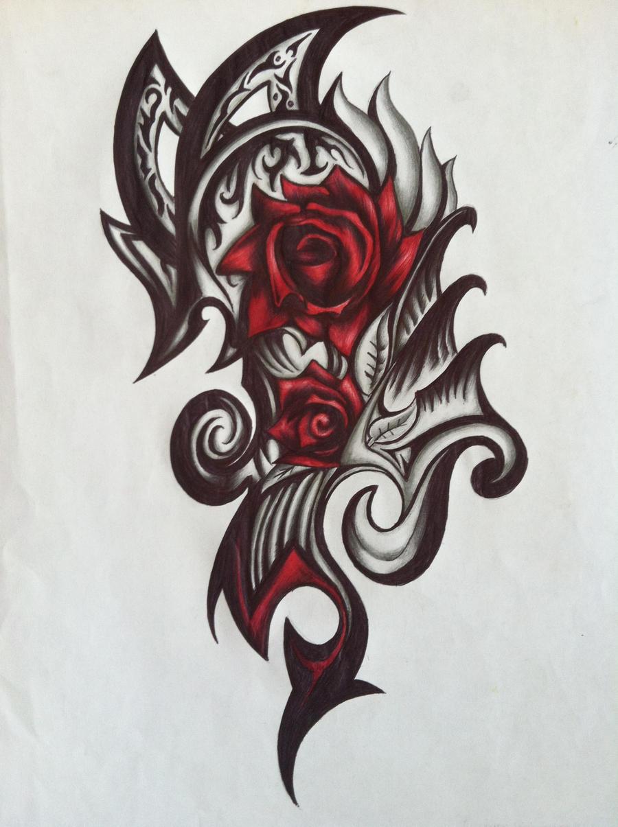 smaller rose tribal patrike originally by bryajhir on