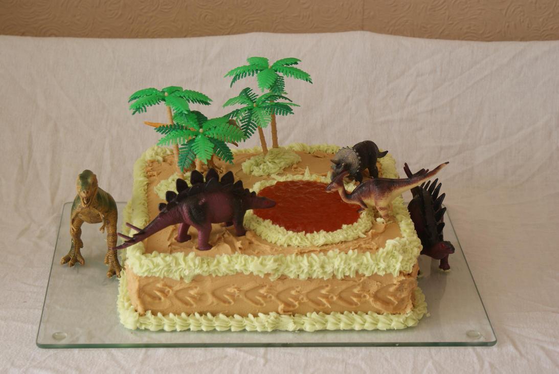 Dinosaur cake by mannafig on DeviantArt