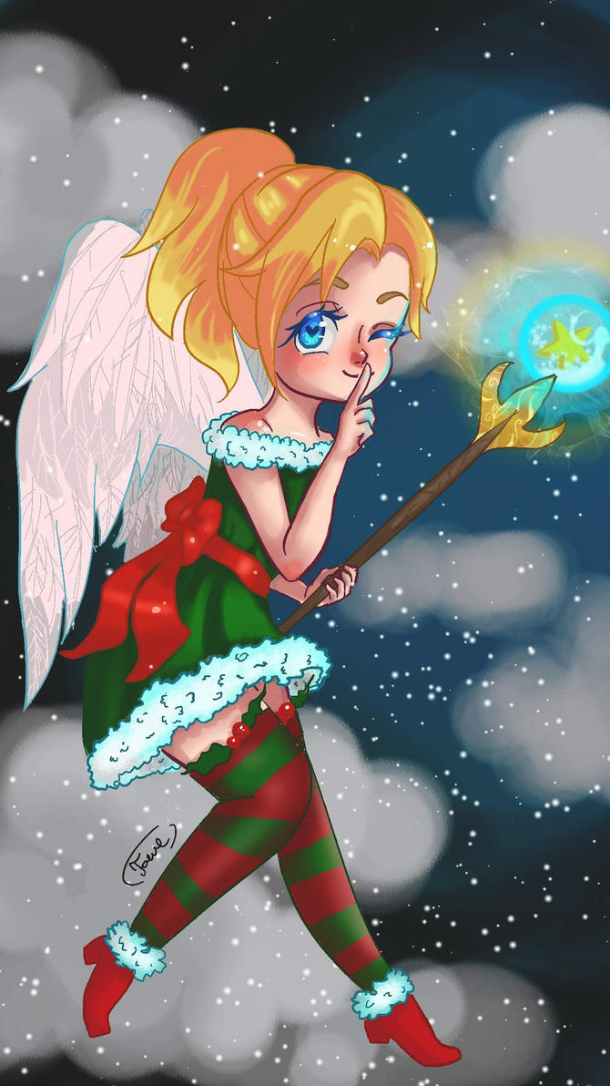 Merry christmas mercy by hikarix33 on deviantart - Overwatch christmas wallpaper ...