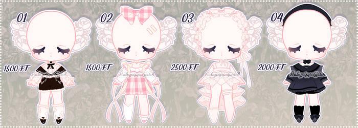 [Wallflora Store] Outfits Set 1