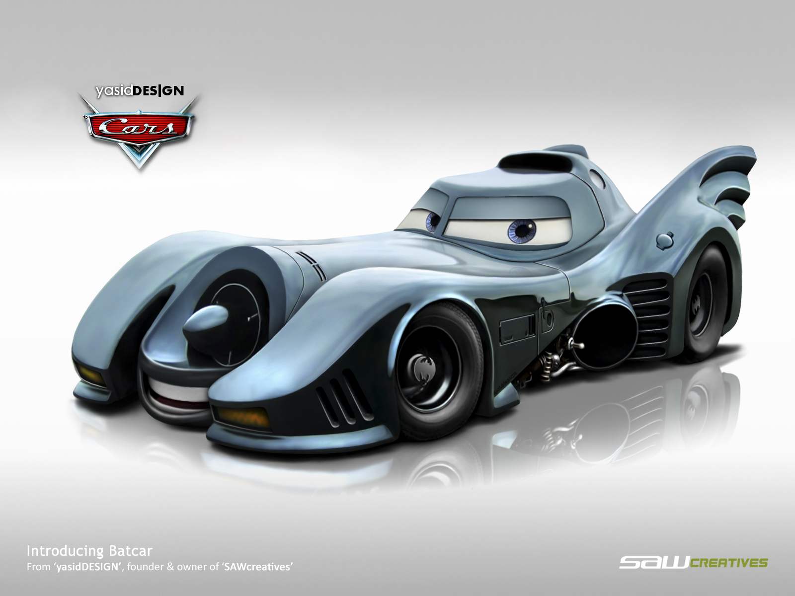 disney cars batcar by yasiddesign