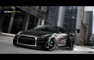 Skyline GTR 35 widebody2