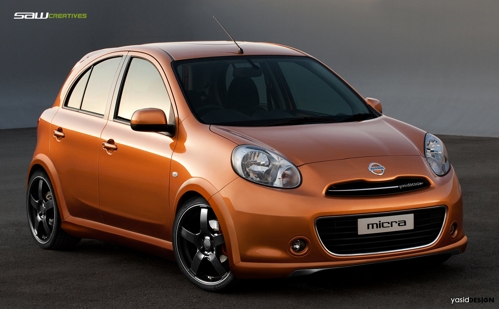 nissan micra 2011 frontview by yasiddesign on deviantart