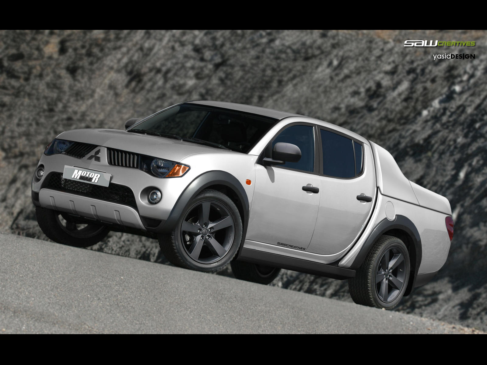 Mitsubishi L200 Frontview By Yasiddesign On Deviantart
