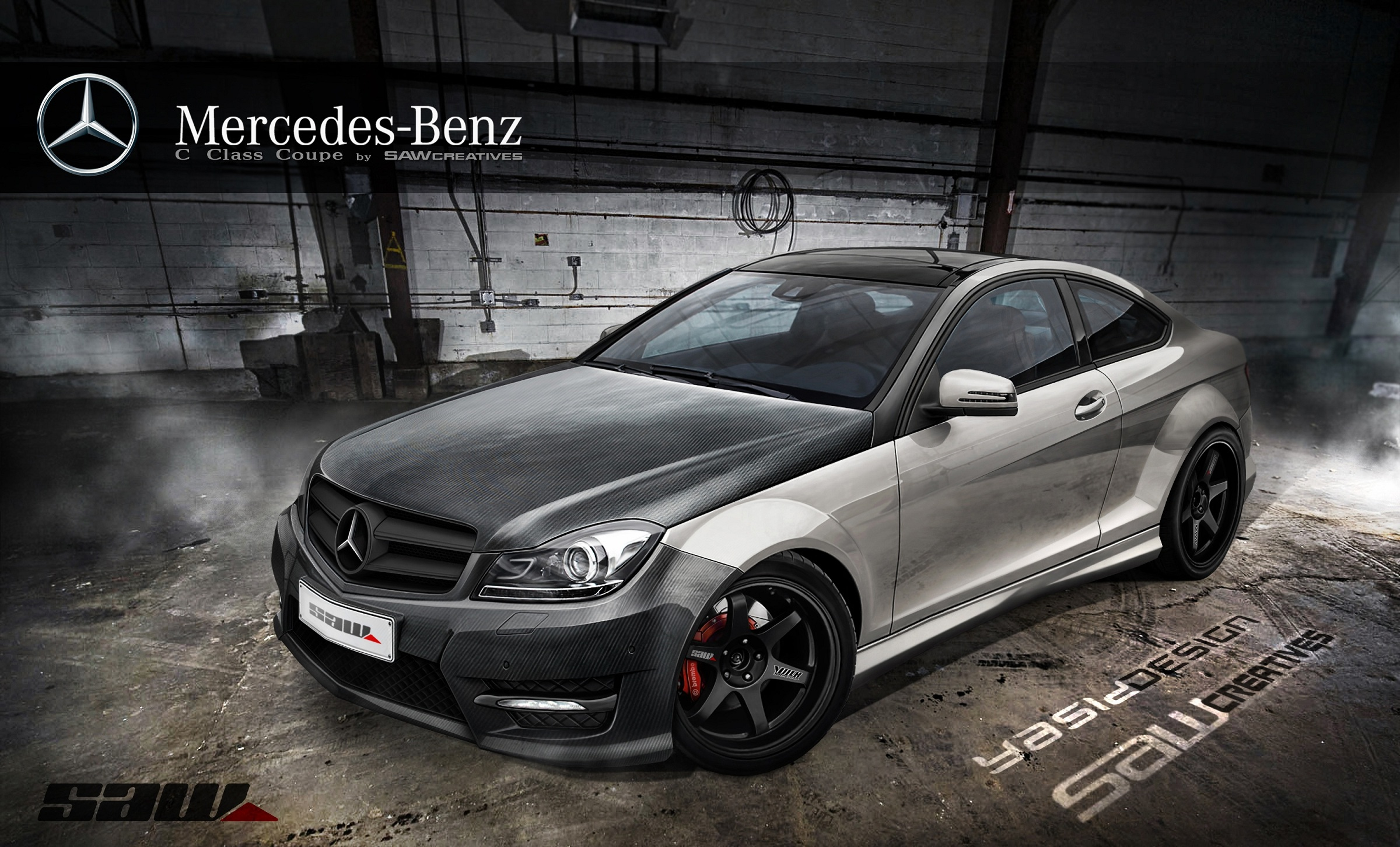 mercedes c class coupe 2012 by yasiddesign on deviantart. Black Bedroom Furniture Sets. Home Design Ideas