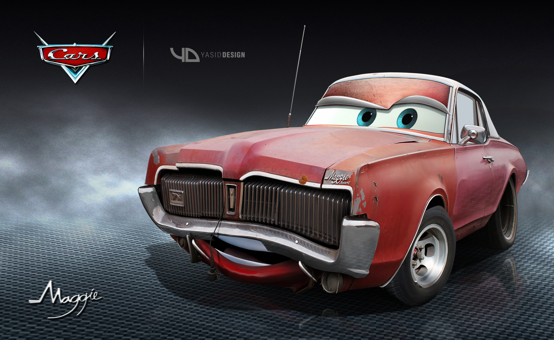 Maggie Disney pixar cars_yasidDESIGN by yasiddesign