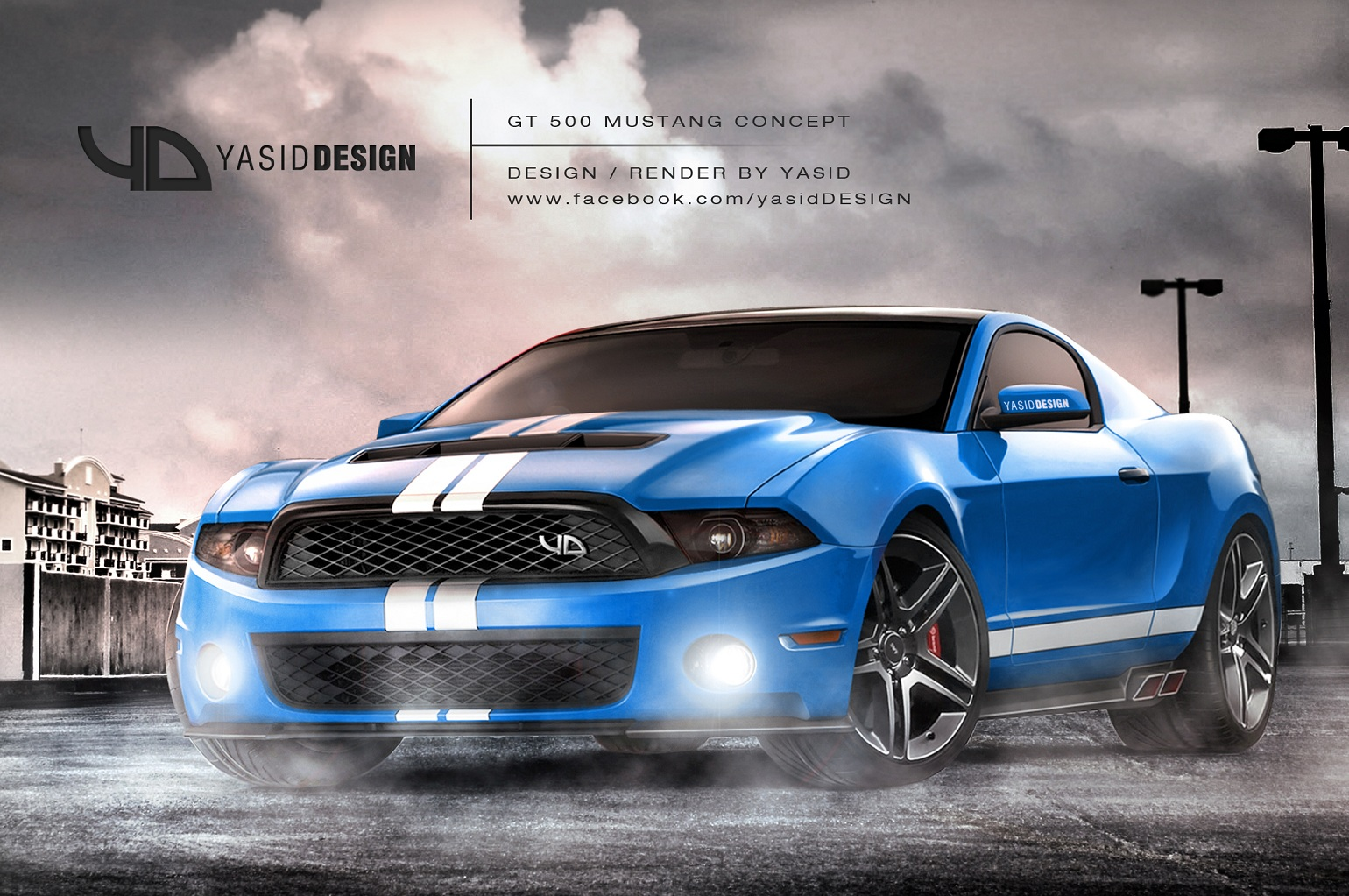 Gt500 Mustang Concept Yasiddesign Front By Yasiddesign On