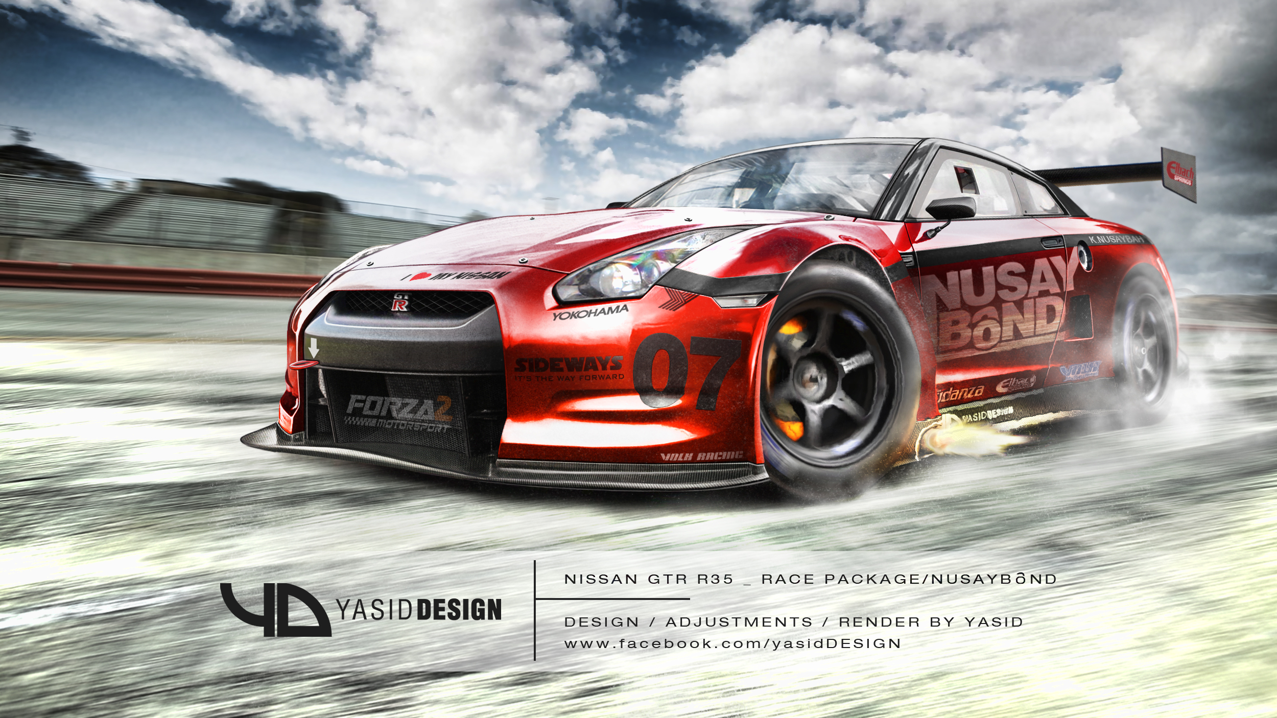 Nissan Gtr R35 Race Package Nusaybond By Yasiddesign On
