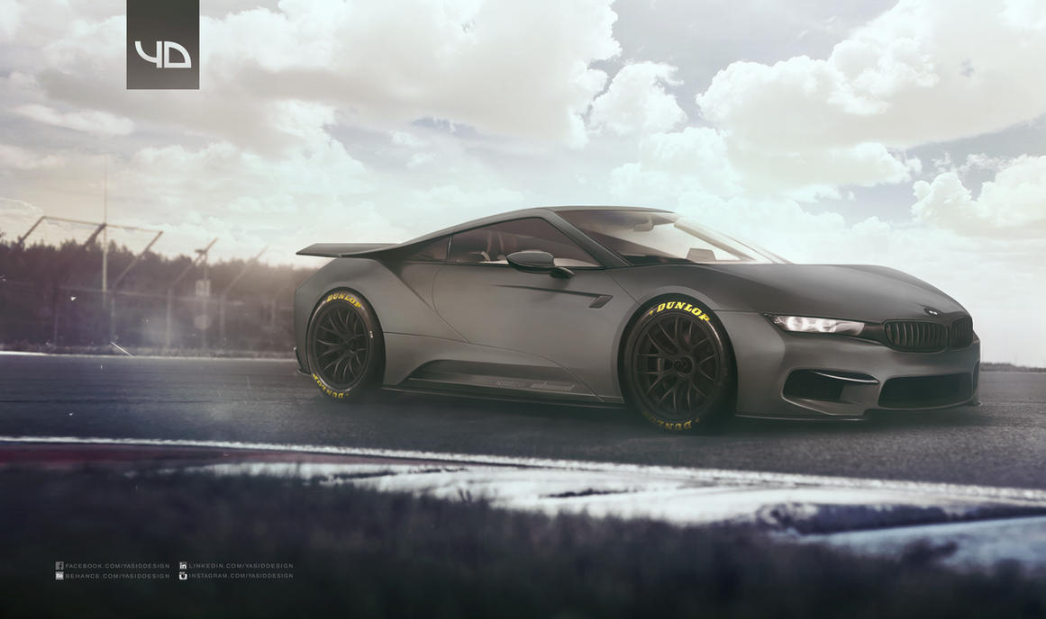BMW ZI8 GTE matte black by yasiddesign