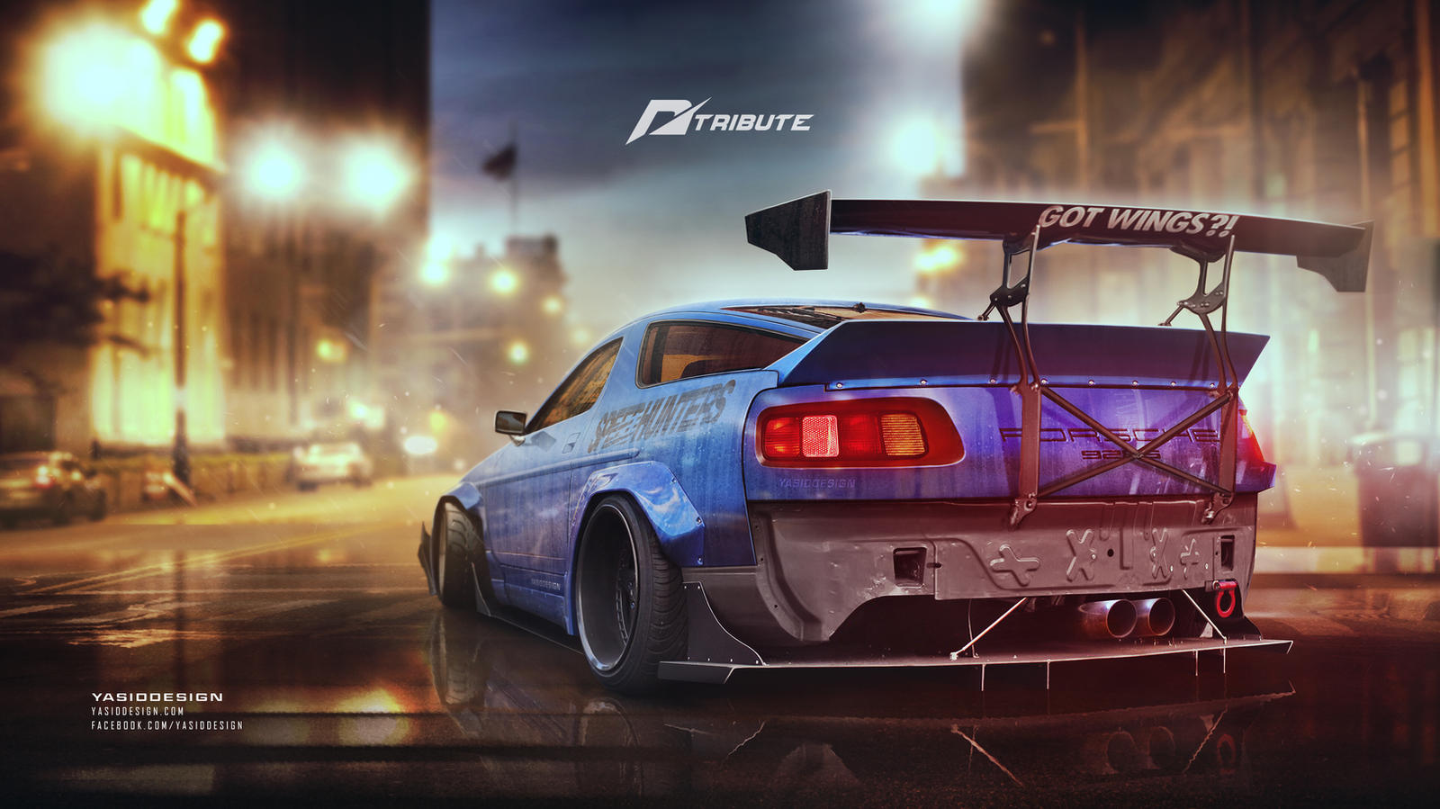Porsche 928 Need for speed tribute by yasiddesign