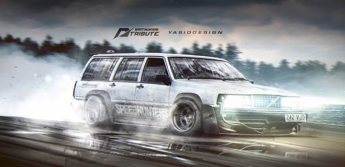 Volvo 940 Speedhunter Need for speed tribute drift