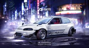 SpeedhuntersHonda Civic EG6 Need for speed tribute by yasiddesign