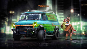 Mystery Machine Ford Transit ScoobyDoo series