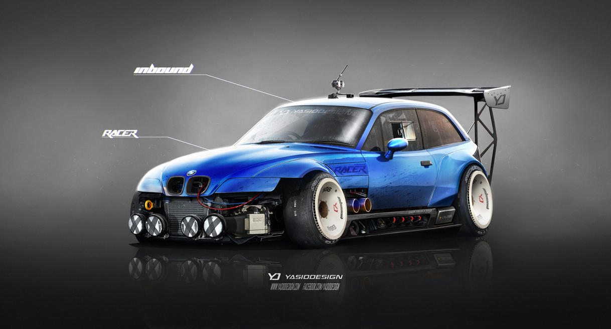 Bmw Z3 M Inbound Racer V2 Blue By Yasiddesign On Deviantart