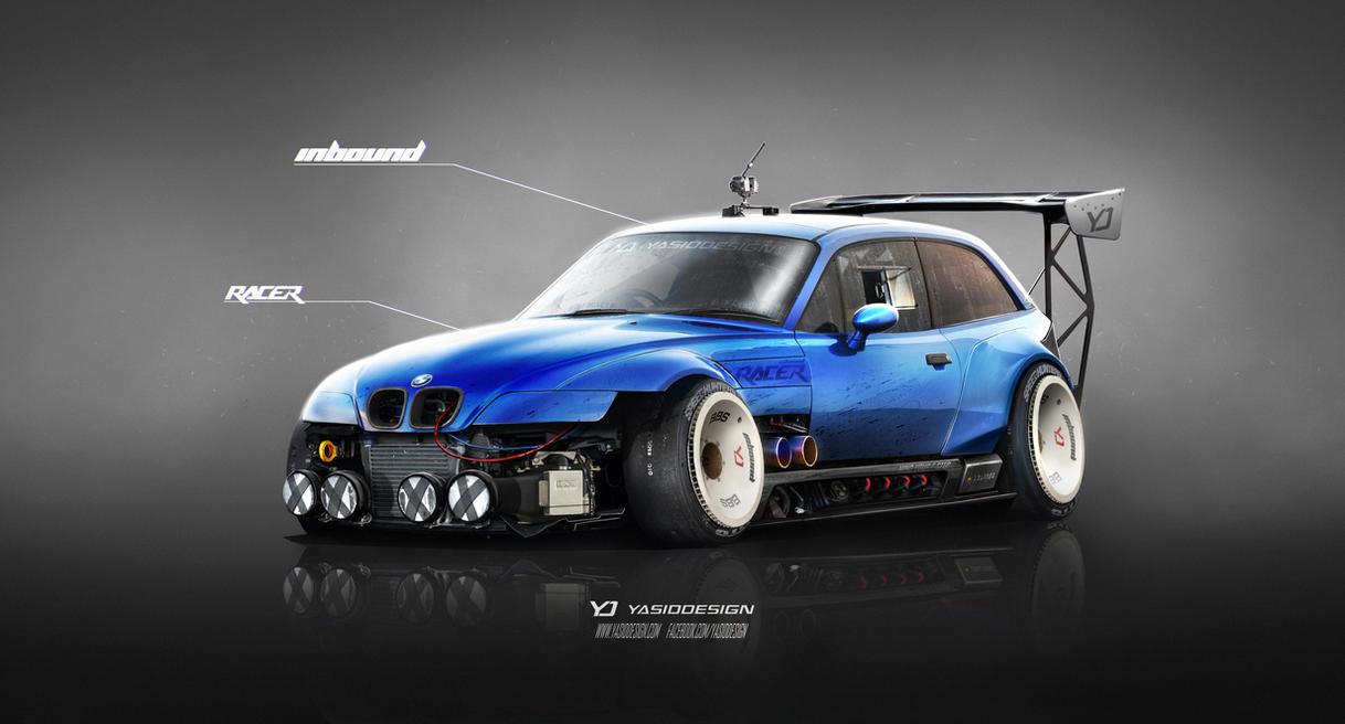 Bmw Z3 M Inbound Racer V2 Blue By Yasiddesign On Deviantart