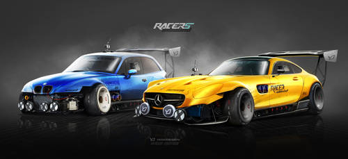 Mercedes AMG GT S vs BMW Z3M Inbound Racer by yasiddesign